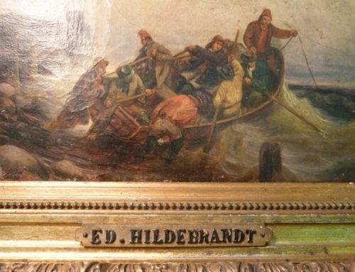 PEINTURE TABLEAU ANCIEN EDUARD HILDEBRANDT XIXe
