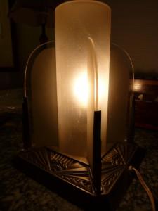 Lampe Art Déco Bronze Argenté