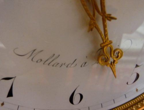 Pendule époque Louis XVI Bronze Signée Mollard Paris