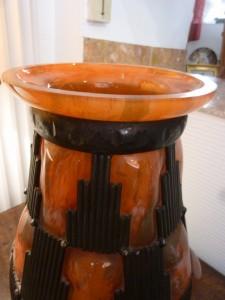 Vase Art Déco en Pâte De Verre Daum-Majorelle