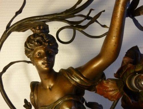 Statue Régule Art Nouveau signée Bruchon