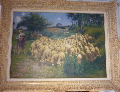 Victor Binet (1849-1924) «Berger Et Son Troupeau»