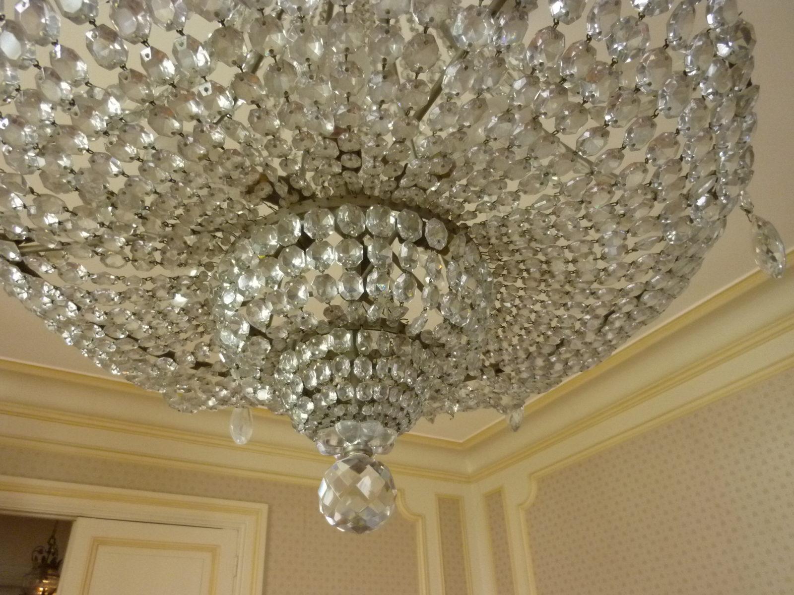 grand lustre corbeille cristal et bronze la licorne antiquit. Black Bedroom Furniture Sets. Home Design Ideas