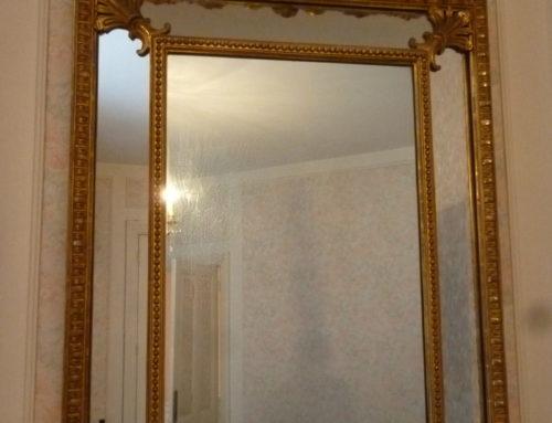 Miroir à Parcloses Style Louis XV Époque XIXeme